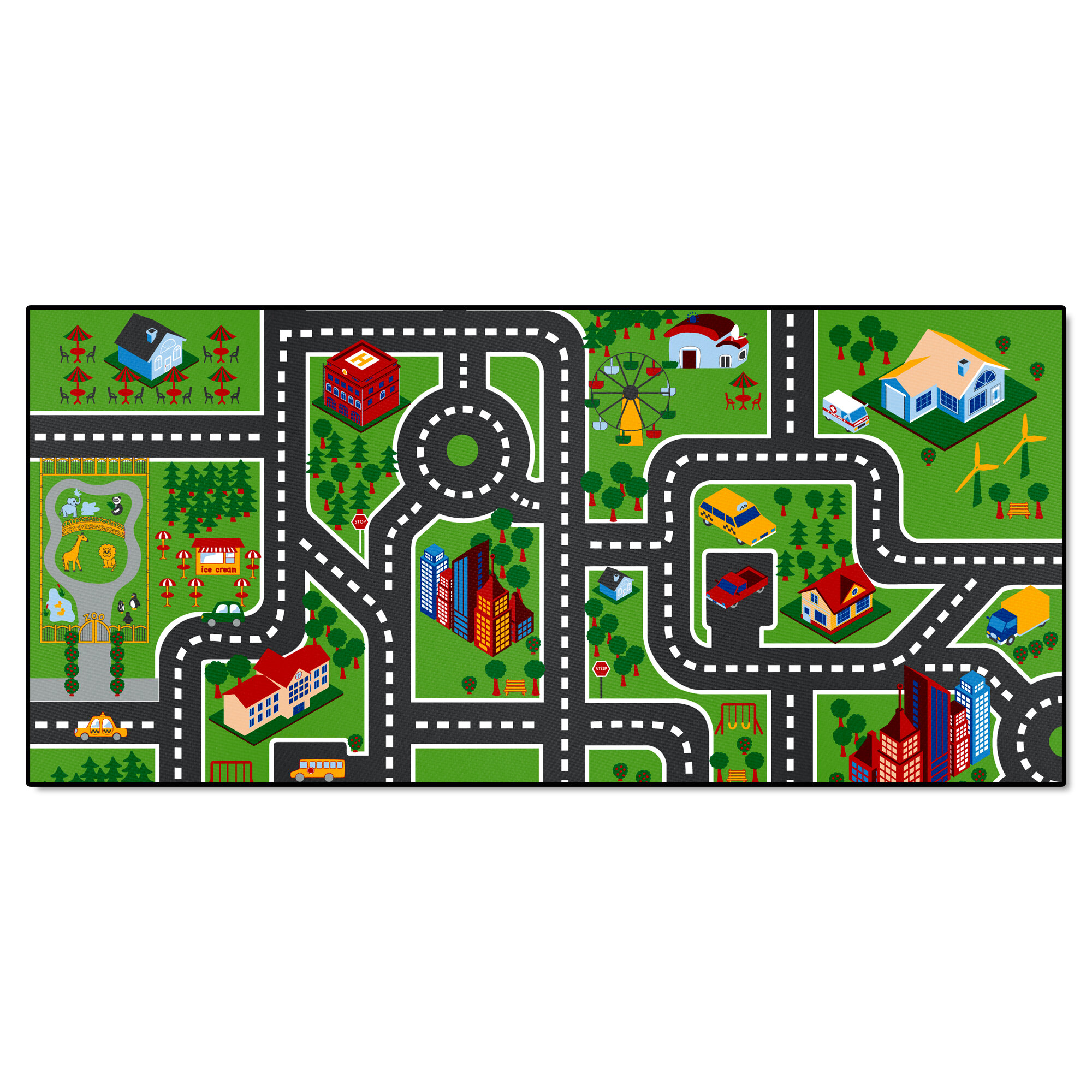 Floor mats for kids Daycare Black Temptation Baby Bath Toy Bath Water Learning Educational Toy Fanmats City Streets Nonslip Kids Floor Mat Reviews Wayfair