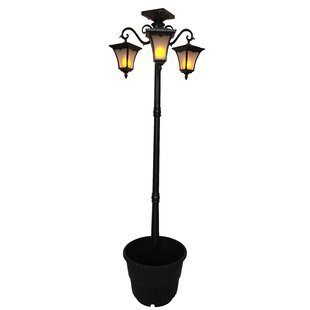 Affordable Heritage Solar Powered Flame 3-Light LED 78 Post Light By Nature Power