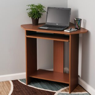 Hanneman Compact Corner Computer Desk by Symple Stuff
