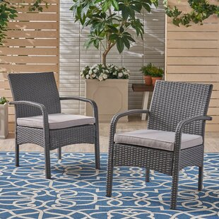 Find Grissett Patio Chair with Cushion (Set of 2) Buy & Reviews