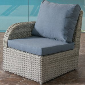 Killingworth Weather Resistant Resin Wicker Patio Left Arm Chair With  Cushions