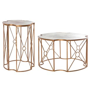 Marlene 2 Piece Coffee Table Aidan Gray