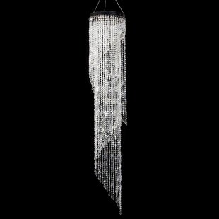 Bergin Iridescent Diamond Cut Beaded Spiral Crystal Chandelier