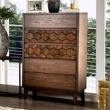 Amirah 5 Drawer Chest by Bungalow Rose