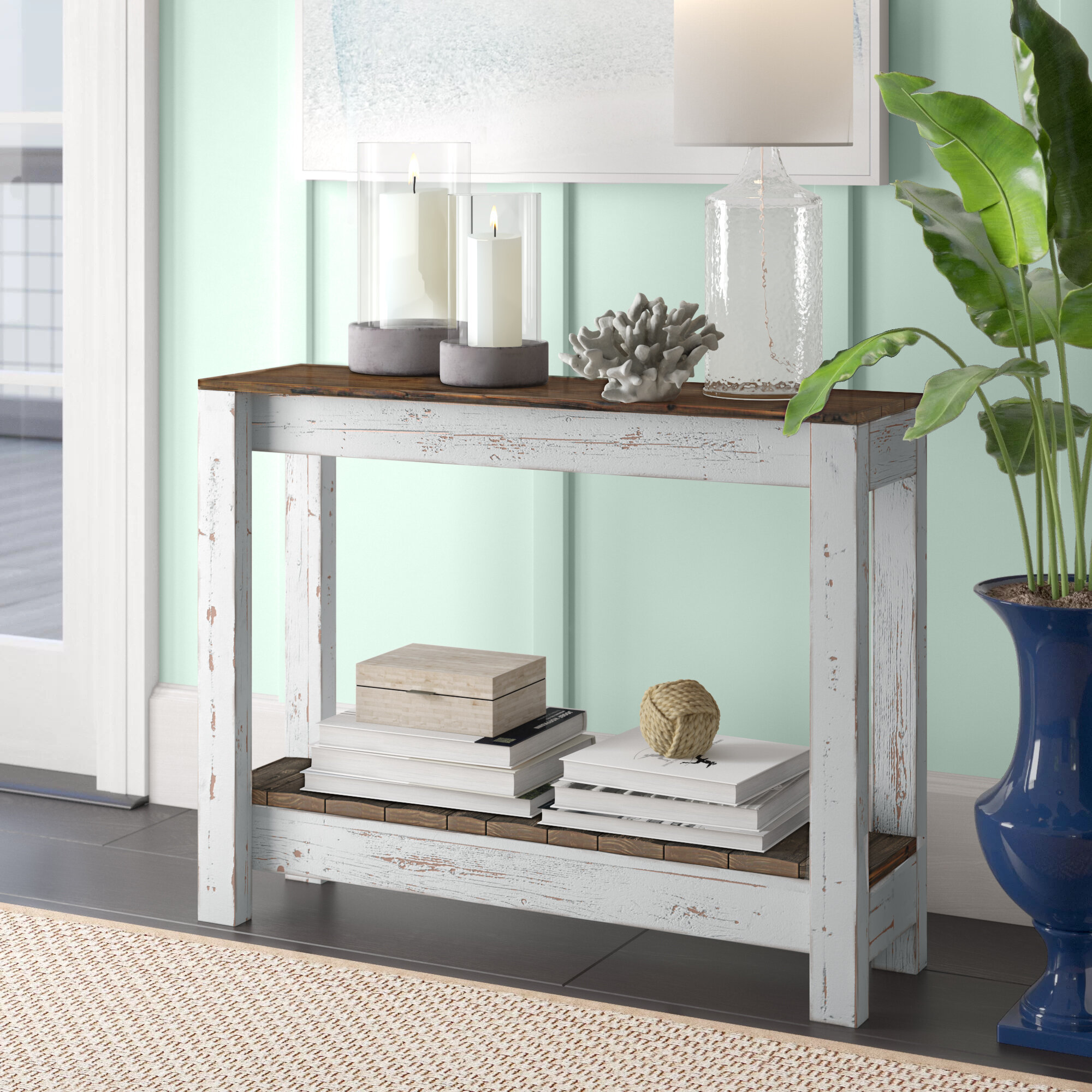 Highland Dunes Itzayana 36'' Solid Wood Console Table & Reviews