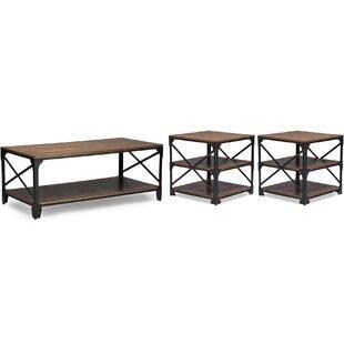 Latitude Run Hutcheson 3 Piece Coffee Table Set