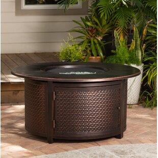 Fire Sense Leeward Aluminum Propane Fire Pit Table