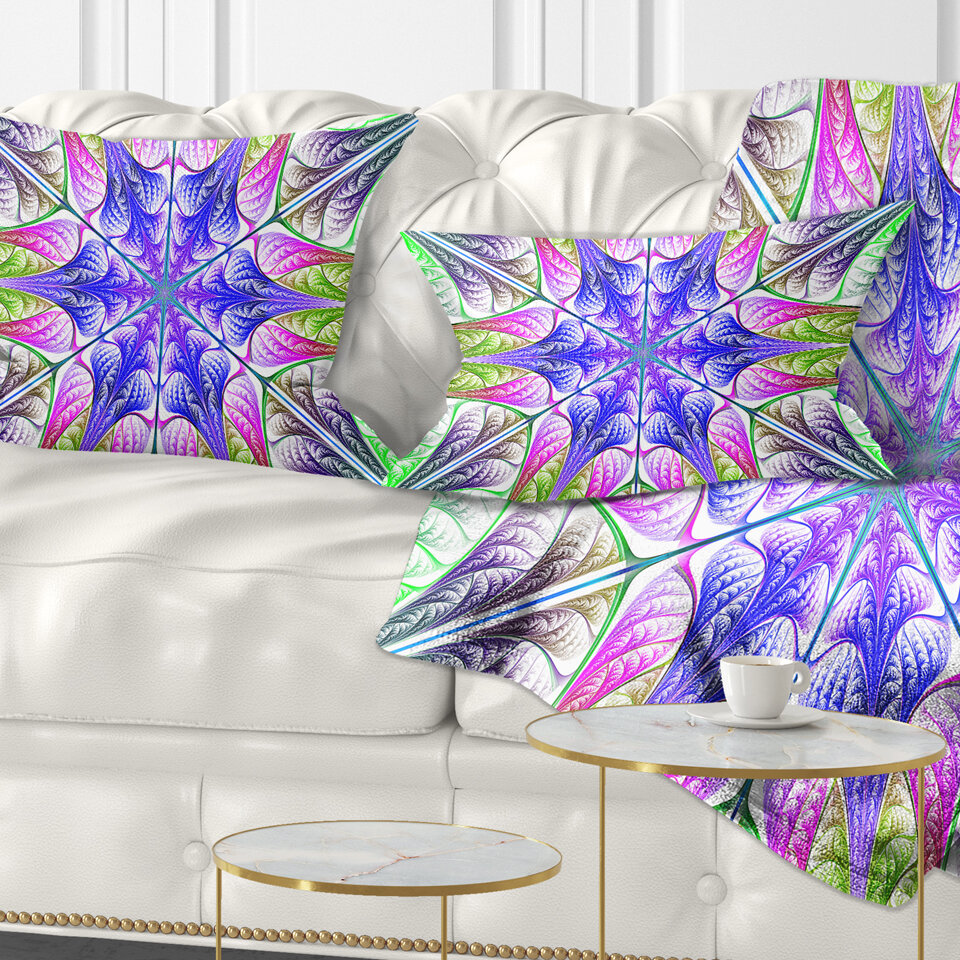 East Urban Home Abstract Extraordinary Fractal Light Art Lumbar Pillow Wayfair