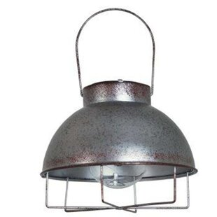 Best Madalyn Silver Solar Powered LED Outdoor Hanging Light