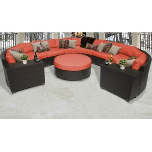 Barbados 8 Piece Sectional Seating Group with Cushions By TK Classics