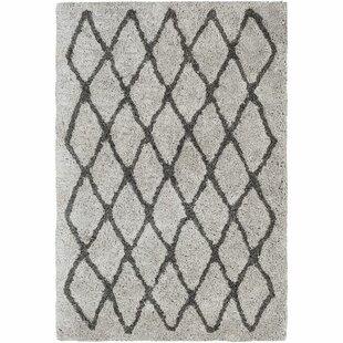 Affordable Annie Trellis Hand-Tufted Ivory/Black Area Rug ByOrren Ellis