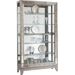 Acubens Lighted Curio Cabinet by Willa Arlo Interiors