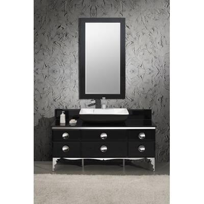 Fresca Moselle 47 Single Modern Glass Bathroom Vanity Set With