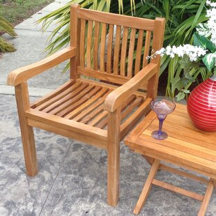 Quinlan Teak Patio Dining Arm Chair