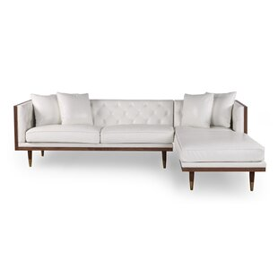 Leyla Mid-Century Leather Sectional