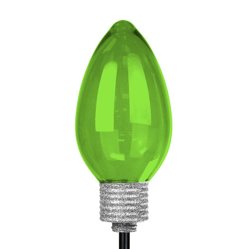 The Holiday Aisle Solar Large Christmas Bulb Garden Stake ...