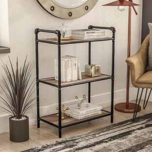17 Stories 3 Tier Metal Pipe Etagere Bookcase
