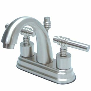 Kingston Brass Milano Centerset Bathroom Faucet with Pop-Up Drain