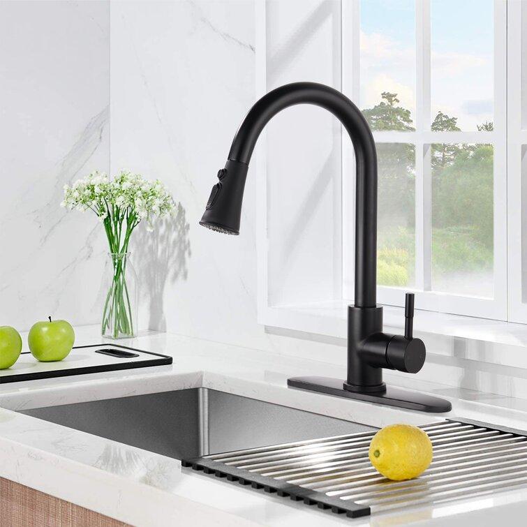 Bathlet Pull Down Single Handle Kitchen Faucet Reviews Wayfair