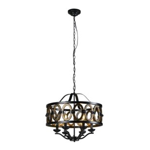 Gracie Oaks Shawn 6-Light Drum Chandelier