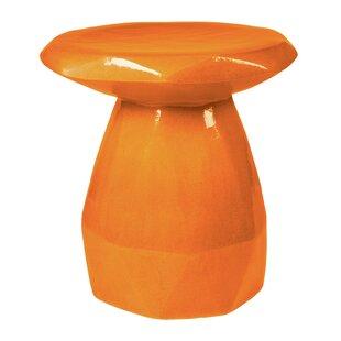 Seasonal Living Geo Ceramic Pedestal End Table