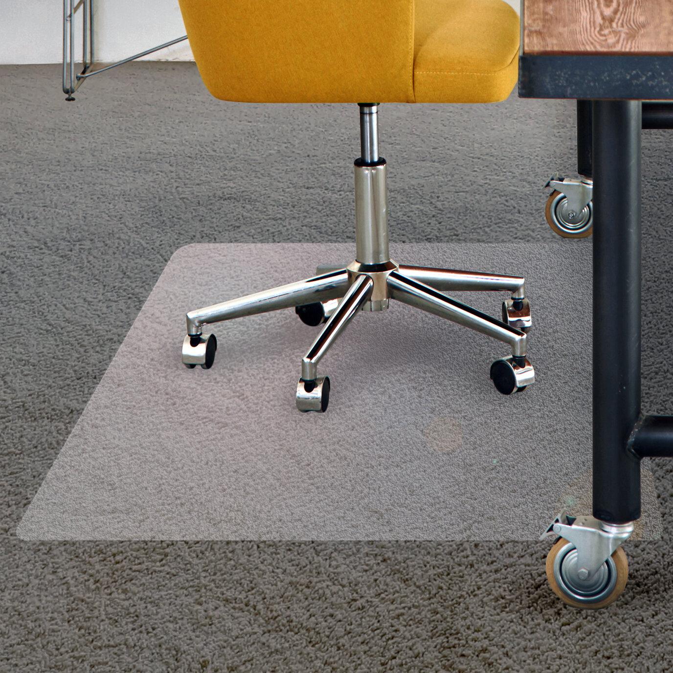 Floortex Low Pile Carpet Straight Rectangular Chair Mat Reviews Wayfair