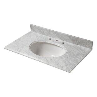 Read Reviews Marble 31 Single Bathroom Vanity Top ByHalstead International