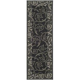 Shop For Alberty Black/Sand Swirl Indoor/Outdoor Area Rug Good price