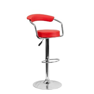 Toms Adjustable Height Swivel Bar Stool Orren Ellis