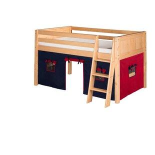 Rabon Twin Wood Low Loft Bed