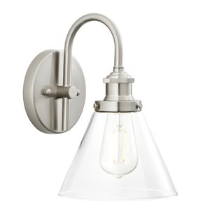 Guthrie 1-Light Armed Sconce by Breakwater Bay