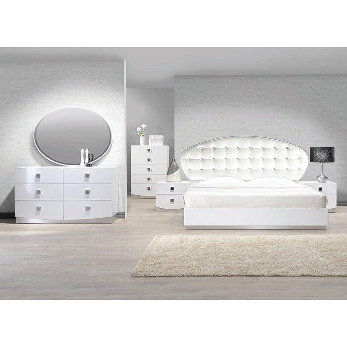 Rachna Platform 5 Pieces Bedroom Set