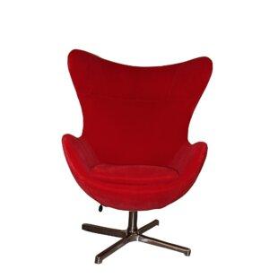 Oak Idea Imports Muna Swivel Lounge Chair