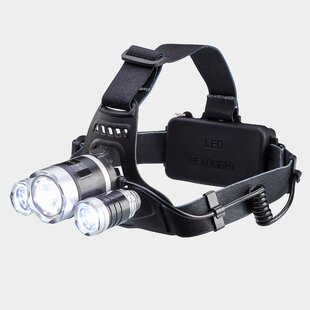 Beane Black Battery Powered LED Outdoor Headlamp By Sol 72 Outdoor