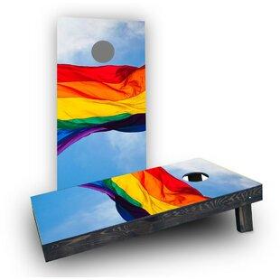 Custom Cornhole Boards Gay Pride Rainbow Flag Cornhole (Set of 2)