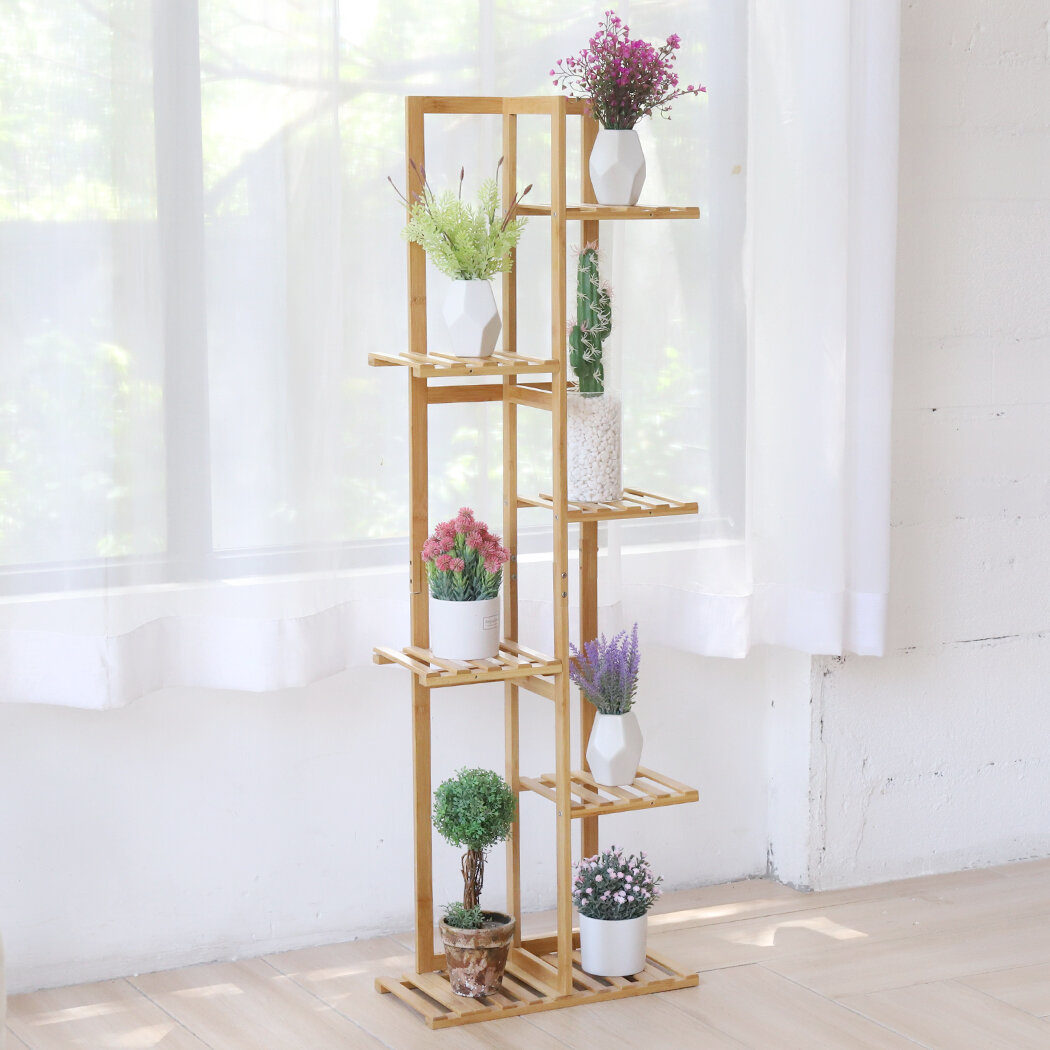 Yard, Garden & Outdoor Living Bamboo Multi Tier Plant Stand Flower ...