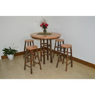 Yorba 5 Piece Solid Wood Dining Set Loon Peak