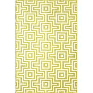 Rahul Hand-Woven Green Indoor/Outdoor Area Rug