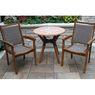 Rhett Terra Cotta 2 Piece Bistro Set