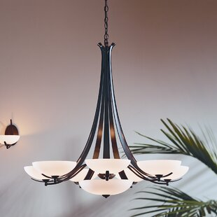 Aegis 9-Light Shaded Chandelier by Hubbardton Forge