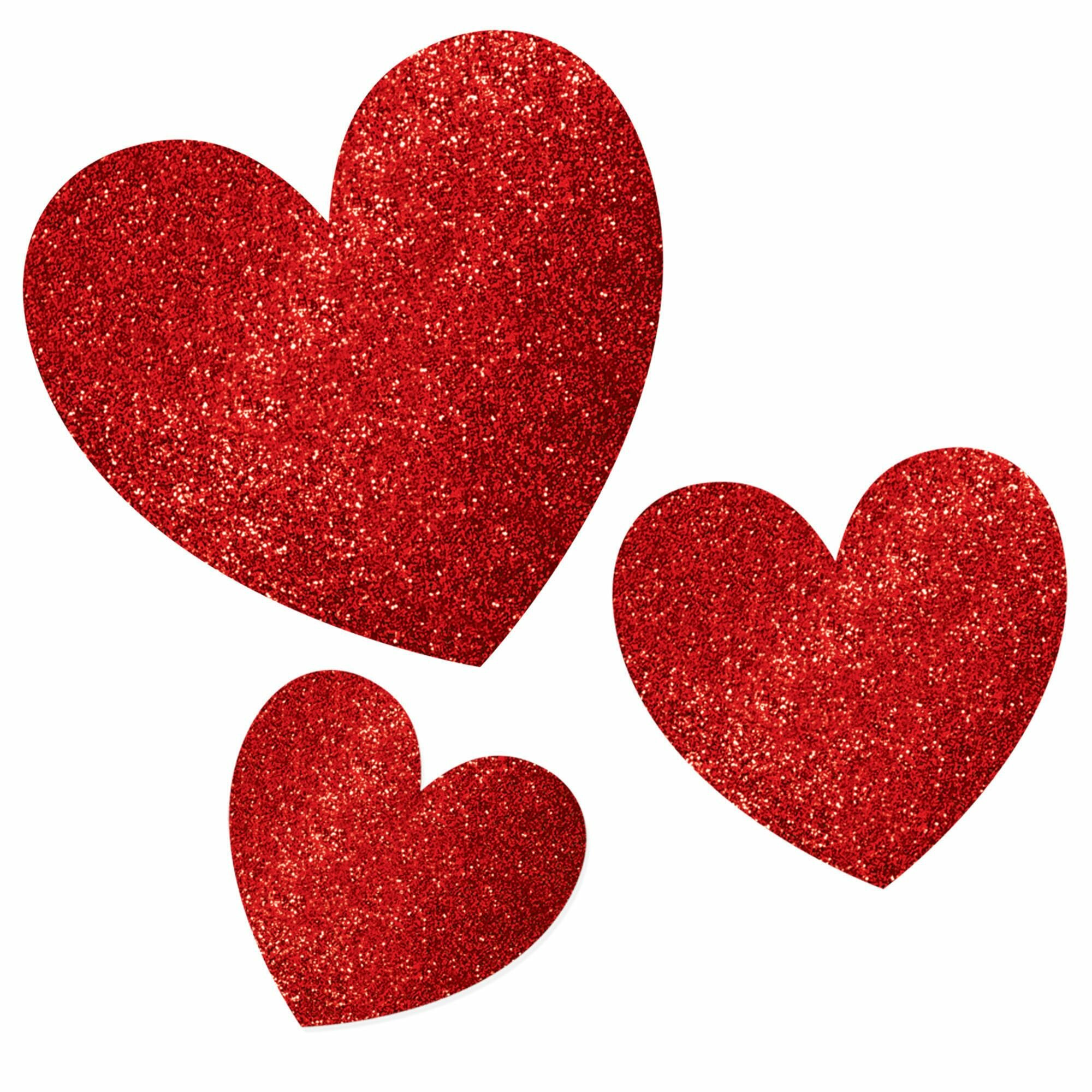 Amscan 60 Piece Valentine S Day Glitter Heart Cardboard Standup Set Wayfair