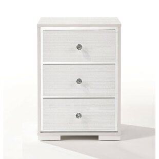 Vincenzo 3 Drawer Nightstand by House of Hampton