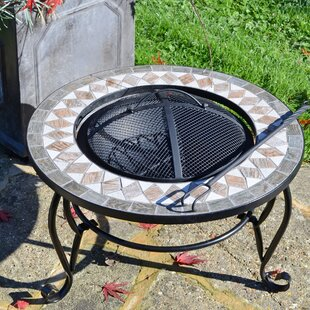 Ilkley Steel Wood Burning Fire Pit Table By World Menagerie