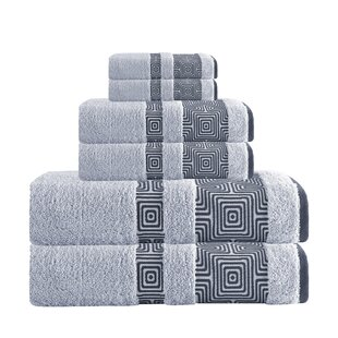 Hibriten 6 Piece Turkish Cotton Towel Set by Trent Austin Design