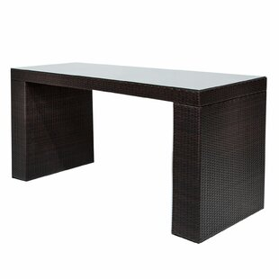 Medley Wicker Bar Table by Rosecliff Heights Best