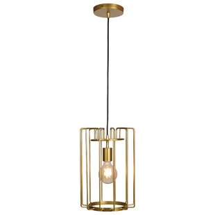 Williston Forge Mcelrath Vertical Cage 1-Light Drum Pendant