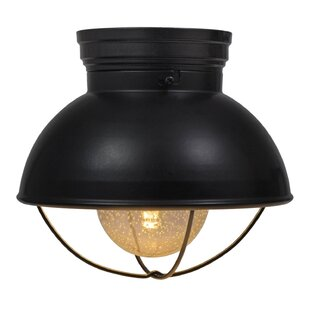 Kristofer California Residents Barn Cage 1-Light LED Semi-Flush Mount by Longshore Tides