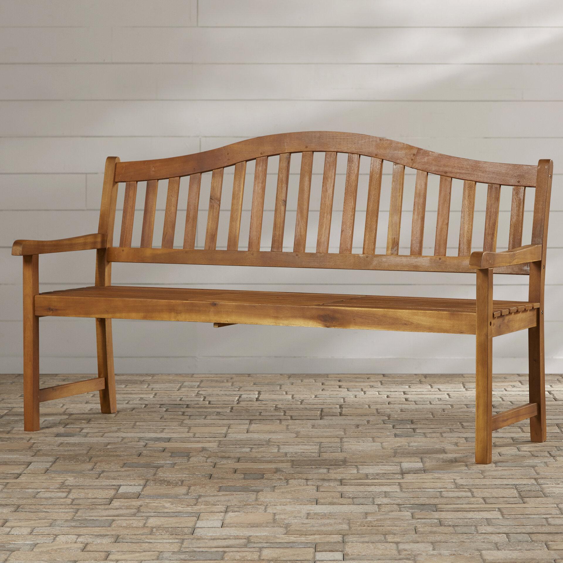 Volusia Wooden Garden Bench & Reviews | Birch Lane