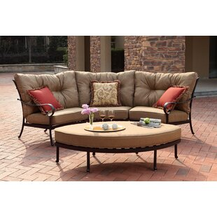 Darby Home Co Lanesville 4 Piece Sectional Set with Cushions
