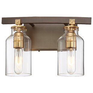 Read Reviews Alysa 2-Light Vanity Light By Williston Forge